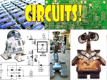 What's a Circuit?  A circuit is a closed path where positive charges flow from high to low potential. They can be manipulated on the way.