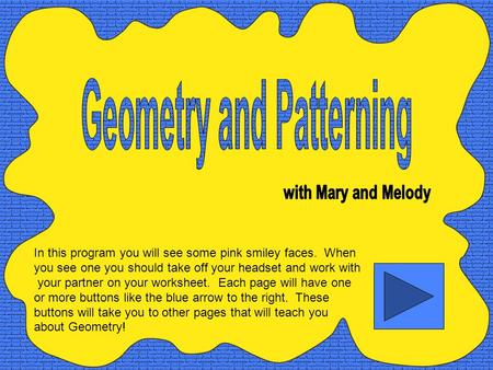Geometry and Patterning