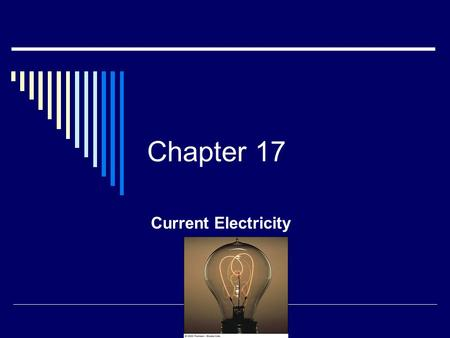 Chapter 17 Current Electricity. Conductors  Conductors are materials in which the electric charges move freely Copper, aluminum and silver are good conductors.