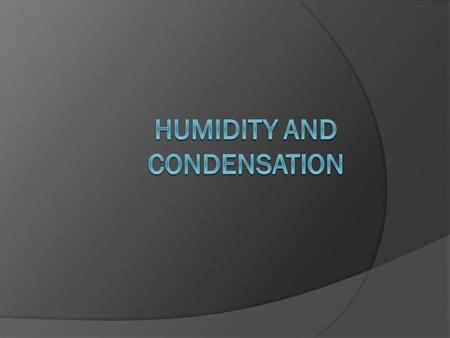 Vocabulary  Water Vapor  Condensation  Specific Humidity  Relative Humidity  Saturated  Dew Point.