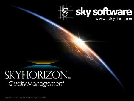 Copyright © 2014 Sky Software. All rights reserved. www.skyits.com.