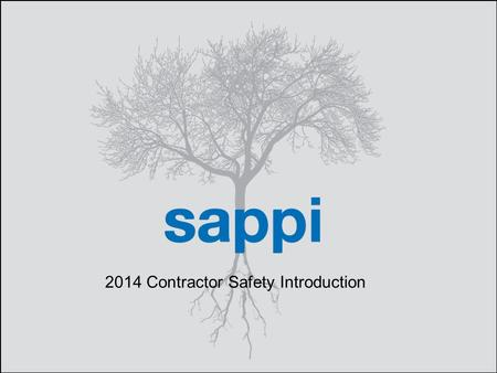 | Contractor Safety Training 1 2014 Contractor Safety Introduction.