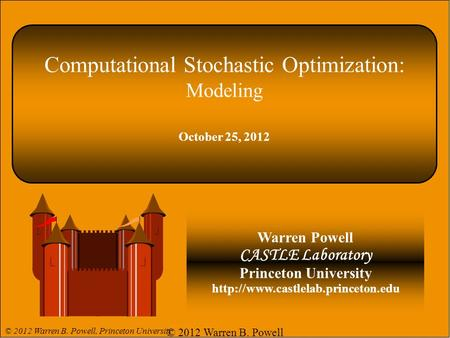 Computational Stochastic Optimization: