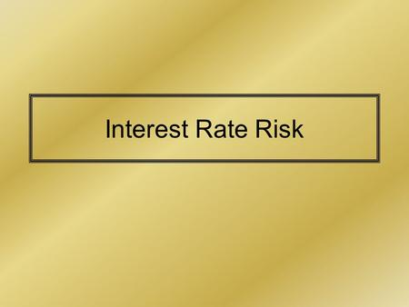 Interest Rate Risk. Money Market Interest Rates in HK & US.