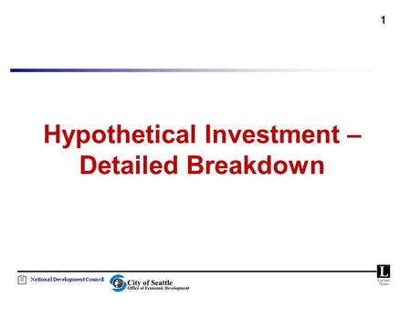 National Development Council 1 Hypothetical Investment – Detailed Breakdown.
