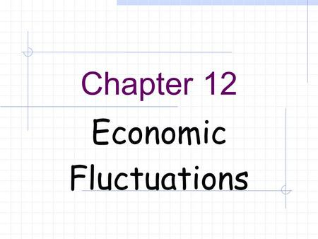 Chapter 12 Economic Fluctuations. Equilibrium Inventory changes.  Unintended changes in inventories cause price levels and real outputs to reach equilibrium.
