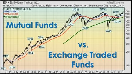 Mutual Funds vs. Exchange Traded Funds.