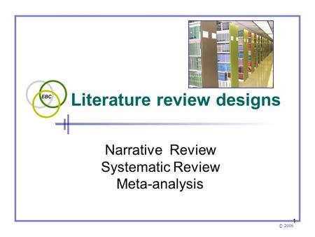 <strong>Literature</strong> <strong>review</strong> designs