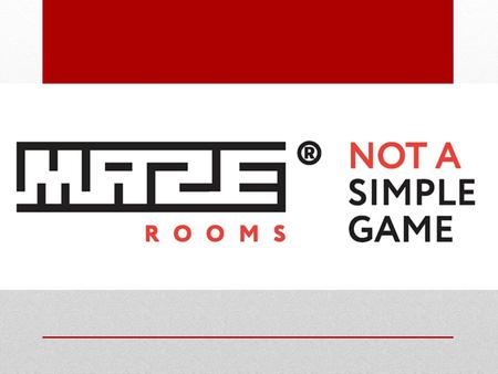 Maze Rooms : Authentic escape scenarios, a revolution in the future of entertainment.