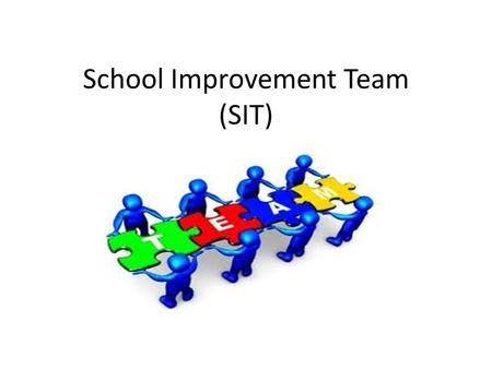 School Improvement Team (SIT). What is the purpose of a school improvement team? The purpose of the School Improvement Team is to be responsible for implementing.