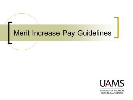 Merit Increase Pay Guidelines. Welcome Introduction  What is the Merit Increase Pay System  Purpose of the Merit Increase pay System Performance Form.