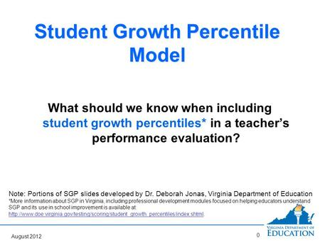 Student Growth Percentile Model Question Answered