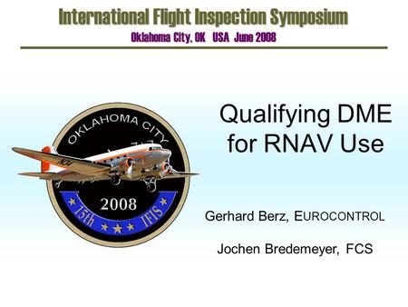 Qualifying DME for RNAV Use