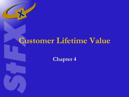Customer Lifetime Value Chapter 4. Lifetime Value Approach When salespeople use the information they have derived and accessed from every contact the.