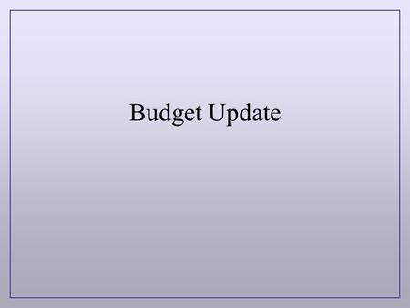 Budget Update. CSU Budget $63.7 Million increase to fund 10,000 Student system-wide $23.3 million increase for 2,700 additional students financial aid.