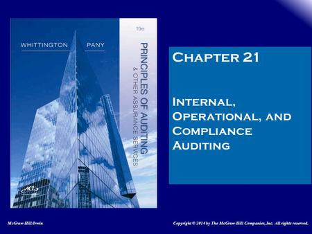 Chapter 21 Internal, Operational, and Compliance Auditing