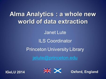 Alma Analytics : a whole new world of data extraction