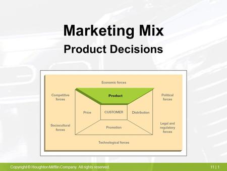 the five product mix pricing decisions Cover product mix, pricing strategies, and getting  choose the best marketing strategies for its  perhaps the store has five identical, size-nine brown shoes.