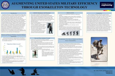 Introduction Exoskeleton technology is a material handling ergonomic strategy aimed at transforming the United States military personnel to be more efficient.