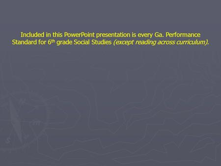 Included in this <strong>PowerPoint</strong> <strong>presentation</strong> is every Ga