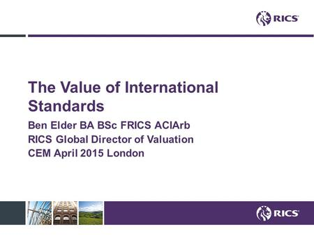 The Value of International Standards