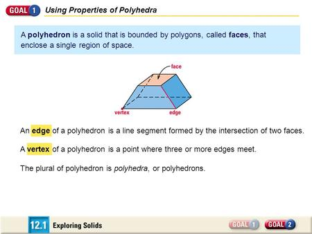Using Properties of Polyhedra