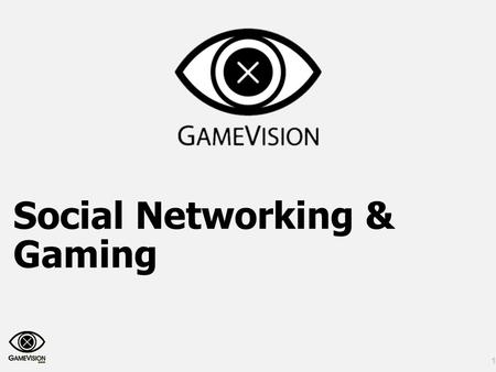 1 Social Networking & Gaming. Copyright GameVision © 2011 2.