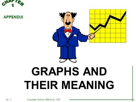 GRAPHS AND THEIR MEANING APPENDIX 1A - 1Copyright McGraw-Hill/Irwin, 2002.