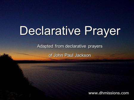 declarative prayer