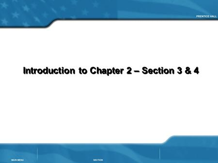 Introduction to Chapter 2 – Section 3 & 4. To identify trade networks in Africa and Asia from background knowledge Goal for Today.