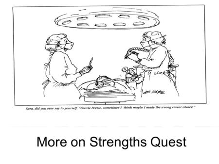 More on Strengths Quest. It's a Question of Fit The Chinese philosopher Confucius had it right 2,500 years ago: Choose a job you love, and you will never.