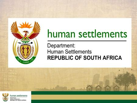 Presentation to the Portfolio Committee on Human Settlements A progress report on Cooperative housing initiatives.
