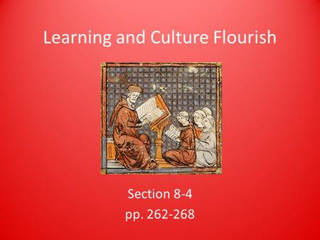 Learning and Culture Flourish