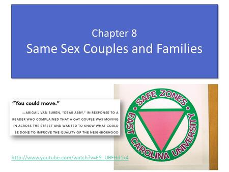 Chapter 8 Same Sex Couples and Families