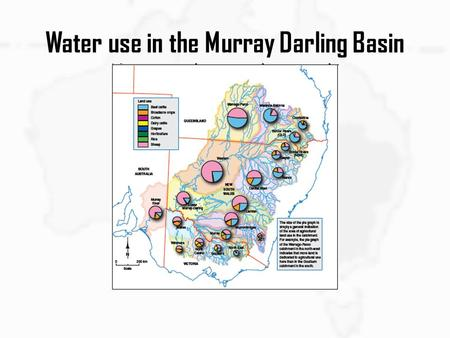 Water use in the Murray Darling Basin. Key Knowledge and Skills Importance of water as a resource in Australia Distribution of water resources Factors.