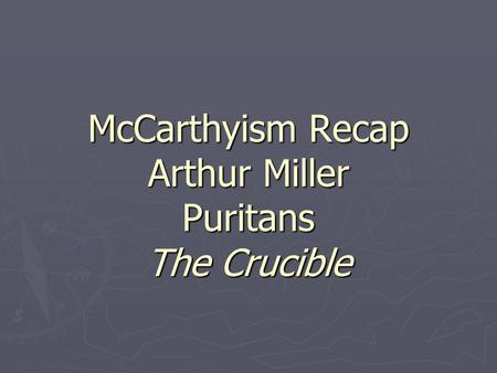 the reason for some changes by arthur miller in the crucible The crucible by arthur miller  if for some reason you are not  used the events but made changes it is important to note that miller used the events and.