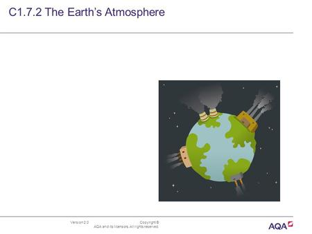 Version 2.0 Copyright © AQA and its licensors. All rights reserved. C1.7.2 The Earth's Atmosphere.