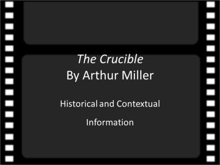 struggle between the protagonists in arthur millers the crucible Below is an essay on the crucible - struggle with conscience  this essay will look at 'the crucible' by arthur miller  the play follows the protagonist,.
