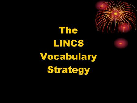 The LINCS Vocabulary Strategy.