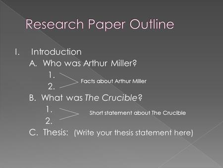 crucible essay thesis statement Essays - largest database of quality sample essays and research papers on thesis of the crucible.