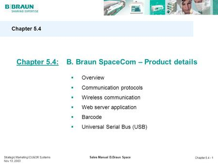 Sales Manual B.Braun Space