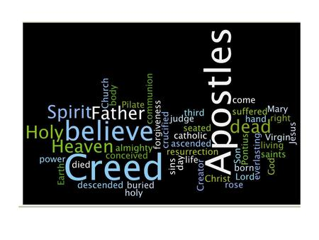 Apostles' Creed Crossroads Series of Brown-Roa Chapter 1 The God of Our Ancestors 1 I believe in God, the Father almighty, Creator of Heaven and Earth.