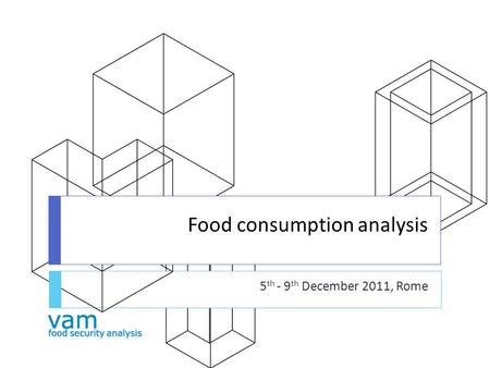 Food consumption analysis 5 th - 9 th December 2011, Rome.
