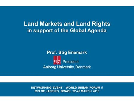 Land Markets and Land Rights