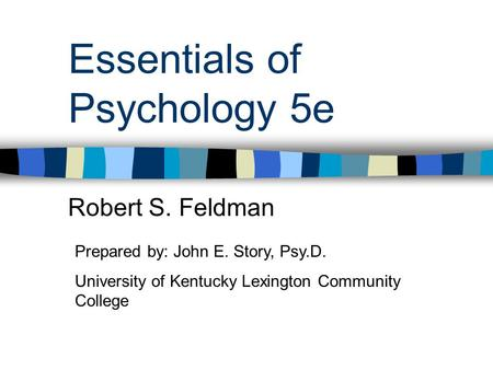 Essentials of Psychology 5e
