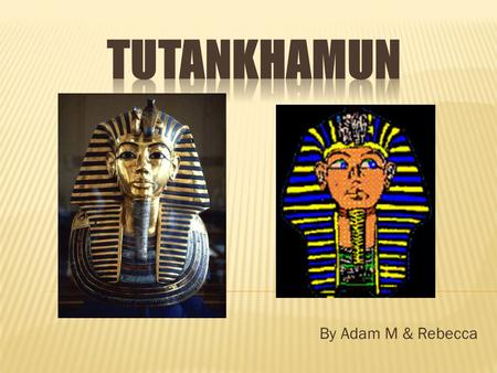 By Adam M & Rebecca Tutankhamun was Born in 1341 BC. He was born in Akhetaten in Egypt.