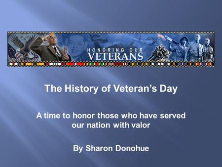 The History of Veteran's Day