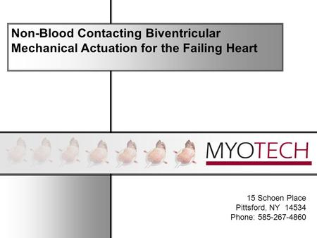15 Schoen Place Pittsford, NY 14534 Phone: 585-267-4860 Non-Blood Contacting Biventricular Mechanical Actuation for the Failing Heart.