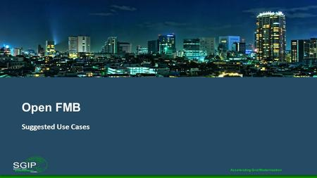 Open FMB Suggested Use Cases.