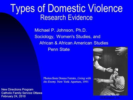 Types of Domestic Violence